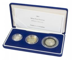 2003 Piedfort Coin Collection 3 Coin Collection